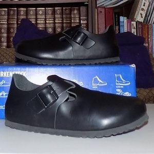 New Birkenstock London Hunter Black leather EU38